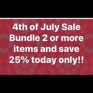 Today Only 4th Of July Sale!!